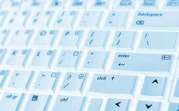 Tastiera blu del computer portatile Immagine Stock Libera da Diritti