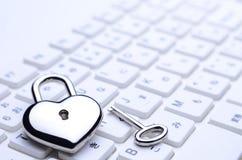 Tastiera chiave Heart-shaped Fotografia Stock Libera da Diritti