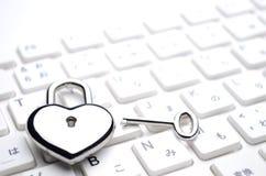 Tastiera chiave Heart-shaped Immagini Stock Libere da Diritti