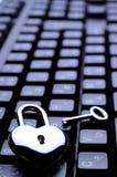 Tastiera chiave Heart-shaped Fotografie Stock Libere da Diritti