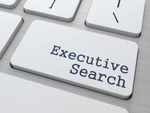 Tastiera con il bottone esecutivo di ricerca. Fotografie Stock Libere da Diritti