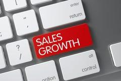 Tastiera con il bottone rosso - crescita di vendite 3d Immagine Stock Libera da Diritti
