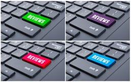 Tastiera con il bottone variopinto di rassegne Fotografie Stock Libere da Diritti