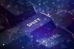 Tastiera con il concetto della rete immagini stock libere da diritti