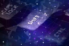 Tastiera con il concetto della rete immagine stock