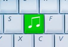Tastiera con il tasto di musica Immagine Stock