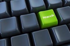 Tastiera con il tasto di ricerca Immagini Stock Libere da Diritti