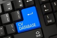 Tastiera con la tastiera blu - base di dati del cv 3d Fotografia Stock