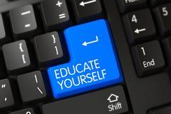 Tastiera con la tastiera blu - istruisca 3d Fotografia Stock