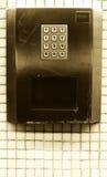 Tastiera d'acciaio numerica, concetto dei numeri Immagine Stock