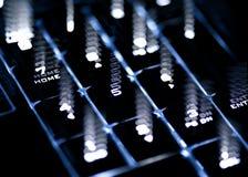 Tastiera d'ardore con effetto Immagini Stock Libere da Diritti