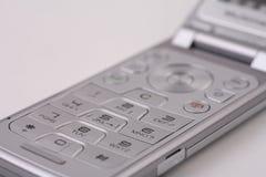 Tastiera d'argento del cellulare Fotografia Stock Libera da Diritti