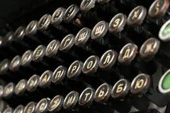 Tastiera da una macchina da scrivere del Russo dell'annata Fotografia Stock