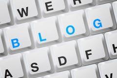 Tastiera del blog Fotografia Stock