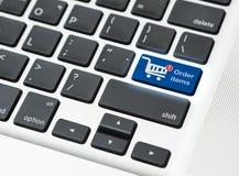 Tastiera del bottone del carrello Fotografie Stock