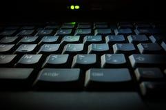Tastiera del computer portatile Immagini Stock