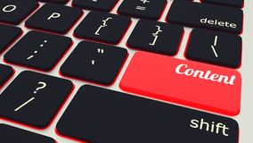 tastiera del computer portatile con il bottone contento rosso, concetto del lavoro illustrazione 3D illustrazione di stock