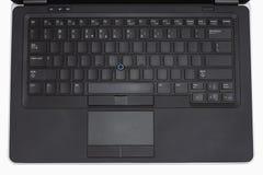 Tastiera del computer portatile con le chiavi in bianco Fotografia Stock