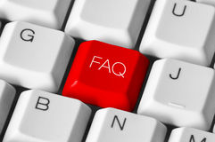 Tastiera del FAQ Fotografia Stock Libera da Diritti