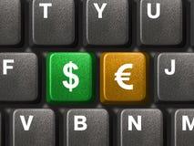 Tastiera del PC con due tasti dei soldi Immagini Stock