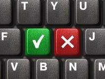 Tastiera del PC con lo sì e nessun tasti Immagine Stock Libera da Diritti