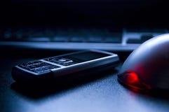 Tastiera del PC e del telefono mobile Fotografia Stock Libera da Diritti