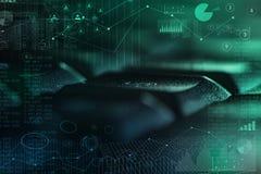 Tastiera del primo piano con i contatti ed il concetto online della gestione immagine stock libera da diritti