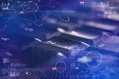 Tastiera del primo piano con il collegamento ed il concetto di comunicazione immagine stock libera da diritti