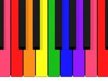 Tastiera del Rainbow Fotografia Stock Libera da Diritti