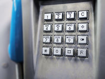 Tastiera del telefono Immagine Stock