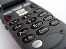 Tastiera del telefono cellulare immagini stock libere da diritti