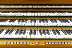 Tastiera dell'organo fotografie stock libere da diritti