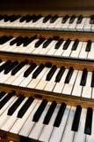 Tastiera dell'organo di tubo Fotografie Stock