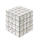 Tastiera di bianco del cubo Immagine Stock
