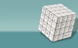 Tastiera di bianco del cubo Fotografie Stock