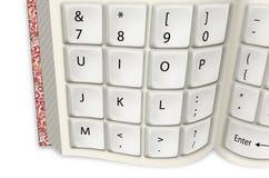 Tastiera di bianco del libro Fotografia Stock Libera da Diritti