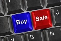 Tastiera di calcolatore con due tasti di affari Immagine Stock