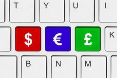 Tastiera di calcolatore con i tasti dei soldi Immagine Stock Libera da Diritti