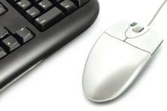 Tastiera di calcolatore con il mouse Fotografie Stock Libere da Diritti