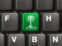 Tastiera di calcolatore con il tasto di vacanza Immagine Stock