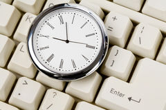 Tastiera di calcolatore e dell'orologio Immagine Stock Libera da Diritti