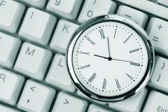 Tastiera di calcolatore e dell'orologio Immagine Stock