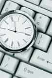 Tastiera di calcolatore e dell'orologio Fotografie Stock