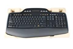 Tastiera di calcolatore senza fili nera Fotografie Stock