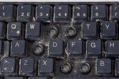 Tastiera di calcolatore sporca fotografia stock libera da diritti