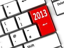 Tastiera di computer 2013 Fotografia Stock Libera da Diritti