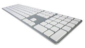Tastiera di computer in bianco fotografia stock
