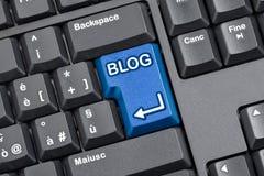 Tastiera di computer chiave del blog Fotografia Stock Libera da Diritti