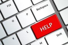 Tastiera di computer con il bottone di aiuto Fotografia Stock