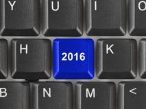 Tastiera di computer con la chiave 2016 Fotografia Stock Libera da Diritti